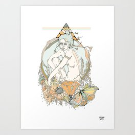 nom de plume Art Print