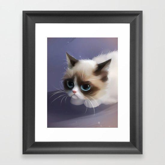 little grumpy things Framed Art Print