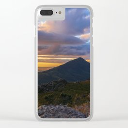 Valley Skyscape Clear iPhone Case