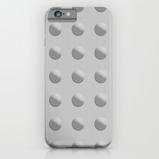 Abstract rivets in gray metal iPhone 6 Slim Case