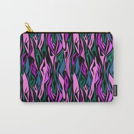 25 abstract purple purple black Carry-All Pouch