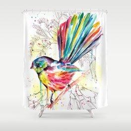 Vibrant Fantail Shower Curtain