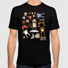 Dress up Mario Black SMALL Mens Fitted Tee
