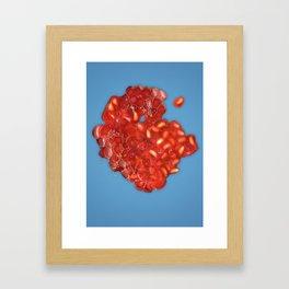 Squished Raspberry Framed Art Print