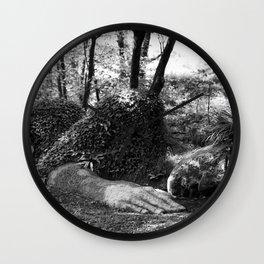 Heligan giant in monochrome Wall Clock
