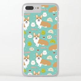 Corgi dim sum kawaii food welsh corgis cute dog pure breed must have gifts Clear iPhone Case