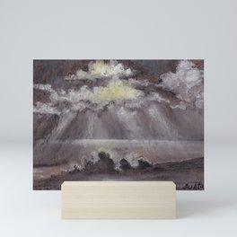 Outer Banks White Sunset Mini Art Print