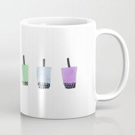 Rainbow Watercolor Bubble Tea Coffee Mug