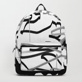 Artistic bat in the darkness , Abstract, art, Gray, black,  graffity, points, bat Backpack