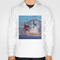 the life aquatic Hoodies featuring Aquatic Skies by BAM! Arts