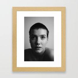 Selfportrait   I've never been more honest Framed Art Print