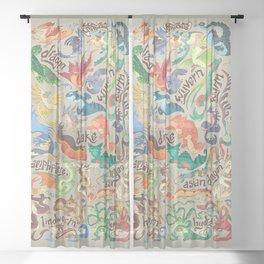 Mini Dragon Compendium Sheer Curtain