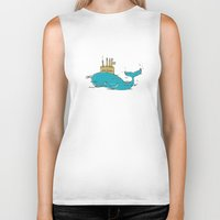 submarine Biker Tanks featuring SUBMARINE by yamini