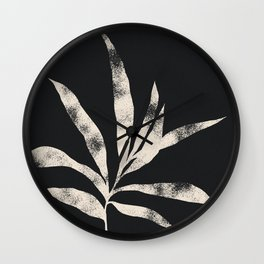 Olive Branch 01 - Ivory & Ink Wall Clock
