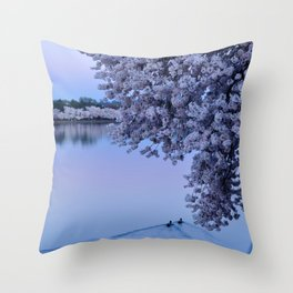 Just Floating By (DC Cherry Blossoms) Throw Pillow