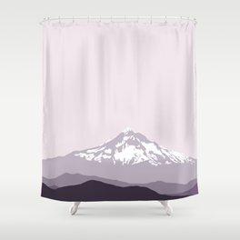 Snow Capped Mountain Landscape - Purple Shower Curtain