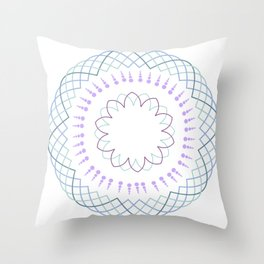 Minimalist floral mandala Throw Pillow
