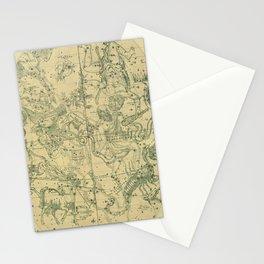 Antique Celestial Map December November October Stationery Cards