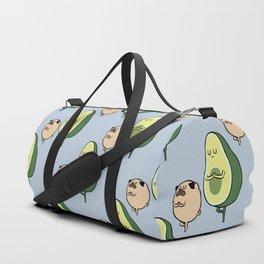 Pug and Avocado Yoga Duffle Bag