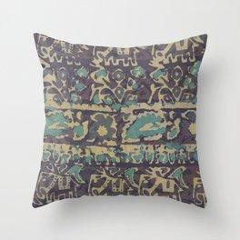 Elephant Batik Throw Pillow