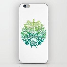 Bugs & Butterflies: green iPhone Skin