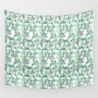 leaf Wall Tapestries featuring Leaf by BLEH collective