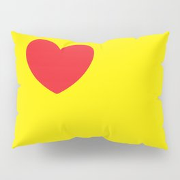 Red heart in yellow Pillow Sham