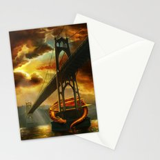 The Dragon of the St Johns Bridge Stationery Cards