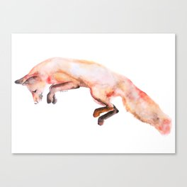 Catching Prey Watercolor Illustration Canvas Print