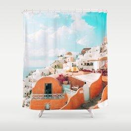 Santorini Glance Shower Curtain