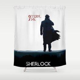 Sherlock: Goodbye John Shower Curtain