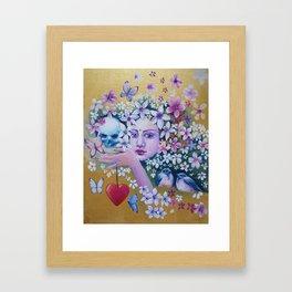 Golden Beginning Framed Art Print