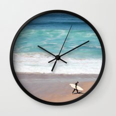 Lonely Surfer Wall Clock