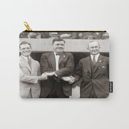 Babe Ruth, George Sisler, Ty Cobb  Circa 1924 Carry-All Pouch