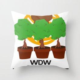 WDW Kingdomcast Planters Throw Pillow