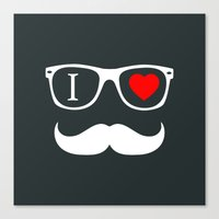 hipster Canvas Prints featuring Hipster by Hipster