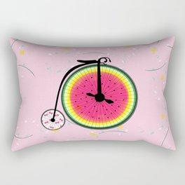 Vintage Bicycle Fruits Wheels Design Rectangular Pillow