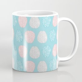 Pastel Brains Pattern Coffee Mug