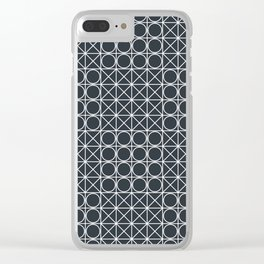 Geometric Tile Pattern Clear iPhone Case