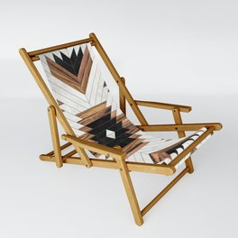 Urban Tribal Pattern No.5 - Aztec - Concrete and Wood Sling Chair