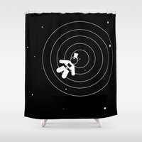 lonely Shower Curtains featuring Lonely by modestystudio