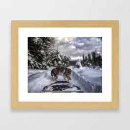 Running With the Dogs Framed Art Print