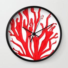 Red Coral no. 1 Wall Clock