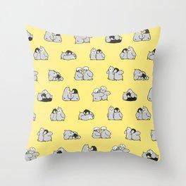 baby penguin print Throw Pillow
