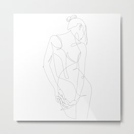 ligature - one line art Metal Print