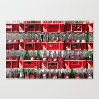 coca cola Canvas Prints featuring Coca-Cola by ArpanDholi