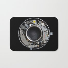Vintage Mechanical Camera Sutter Mechanism Bath Mat