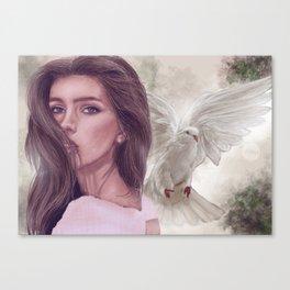 Look back Canvas Print