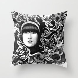 gritty Throw Pillow