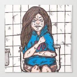 Nicki's bathroom experience Canvas Print